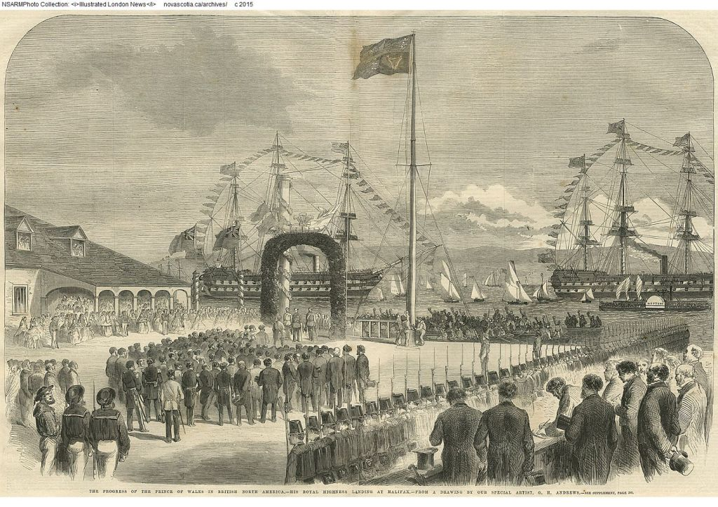 The Royal Visit, 1860. Courtesy of the NS Archives.